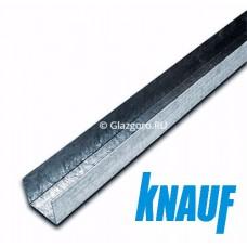 Профиль потолочный направляющий для гипсокартона ПН 28*27*3000 Кнауф (Knauf)